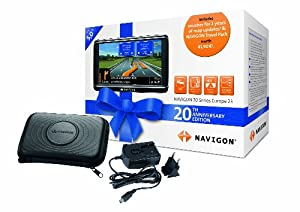 NAVIGON 20th Anniversary Edition with 100% free NAVIGON FreshMaps and Travel Pack (5 inch travel pouch plus homecharger worth £34.99)