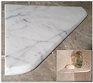 Amazon Com 8 Quot Marble Shower Corner Shelf Carrara Bianco