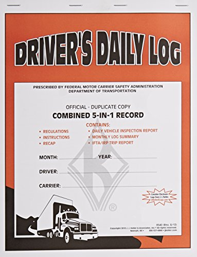 J.J. Keller 8540 5-in-1 Driver's Daily Log Book