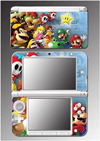 New Super Mario Smash Bros Brothers Bowser Video Game Vinyl Decal Cover Skin Protector 9 for Nintendo 3DS XL