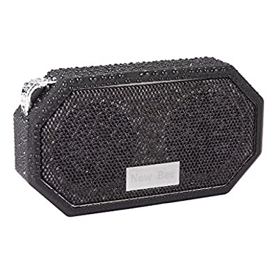IPX5 Waterproof Bluetooth Speaker,5ive? Outdoor/Shower CRS 4.0 Stereo Portable Sports Speaker,Light Weight,Built-in Microphone,Hook,Compatible with all Audio Devices