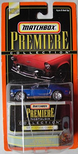 MATCHBOX PREMIERE NOSTALGIA COLLECTION BLUE '68 MUSTANG COBRA