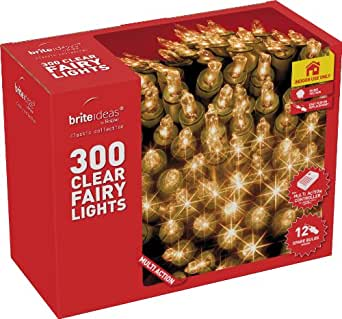 Brite Ideas Festive 300 Multiaction Fairy Lights, Clear
