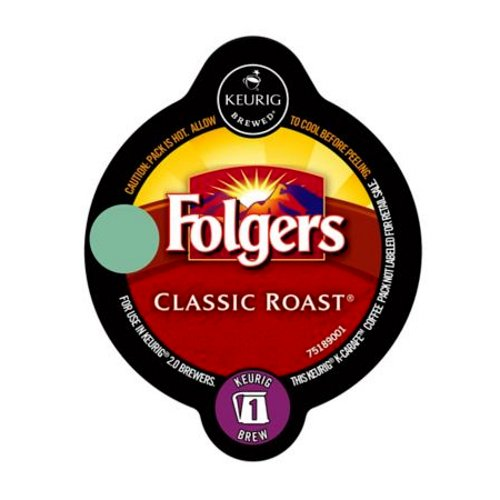 Folgers Classic Roast Keurig K-Carafe Pack, 8 Count