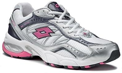Lotto Women's Running Shoes White Blanc/rose 6: Amazon.co