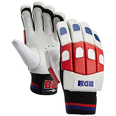 BDM Galaxy Batting Gloves, Youth  (White/black/Blue)