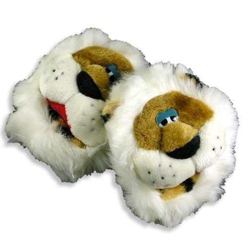 Cheap Padders Inc – Infant and Toddler Boys Tiger Slippers, Ivory, Brown 11886 (B0015SU18W)