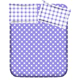 RR TEXTILE HOUSE PRESENTS BLUE COTTON DOUBLE BEDSHEET WITH 2 PILLOW COVERS (ROUND9A)