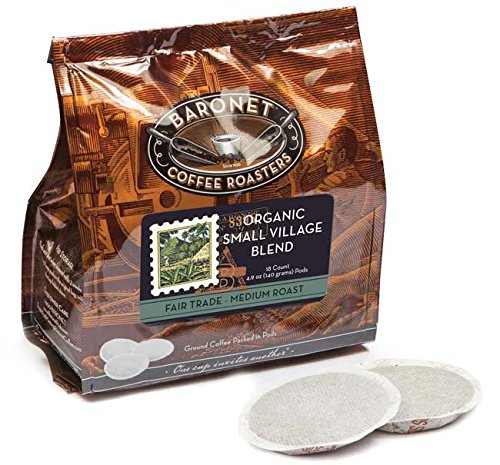 Baronet Coffee Fair Trade Organic Small Village Blend Coffee Pods Bag, 54 Count (Single Cup Coffee Pods compare prices)