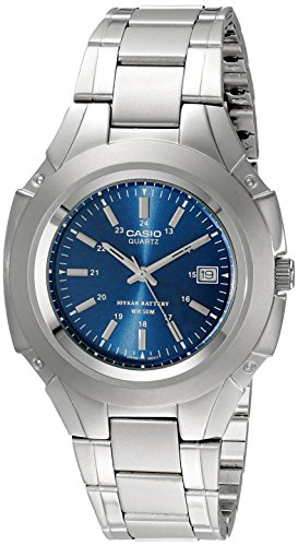 Casio Men's MTP3050D-2AV Classic 10-Year Battery Stainless Steel Dress
