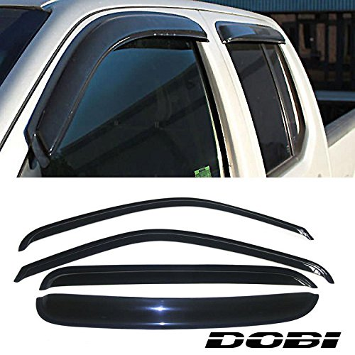 Fit 92-00 Chevy/GMC C1500/K1500 C2500/K2500 C3500/K3500 Crew Cab Pickup 95-99 Chevy Tahoe/GMC Yukon 99-00 Cadillac Escalade 4pc Outside Mount Style Rain Guard Vent Shade Window Deflector (97 Chevy Silverado Accessories compare prices)