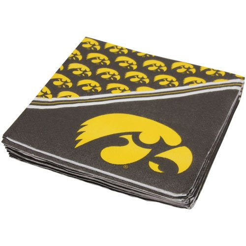 NCAA Iowa Hawkeyes Yellow 16-Pack Beverage Napkins - 1