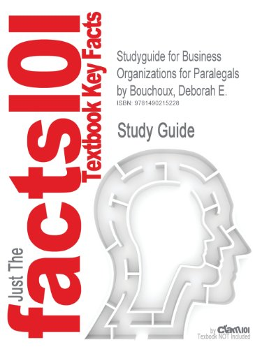 Studyguide for Business Organizations for Paralegals by Bouchoux, Deborah E.