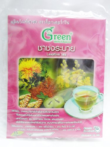 Dr.Green : Laxative Herbal Tea 100% 15G. (15 Teabags) Product Of Thailand