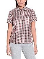 CMP Camisa Mujer 3T50936 (Rojo / Marrón)