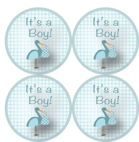 "It'S A Boy Stickers (63 1"" Stickers In Baby Blue)"