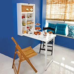 Sobuy Folding Wall Mounted Drop Leaf Table Kitchen