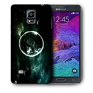 Snoogg Abstract Planets Printed Protective Phone Back Case Cover For Samsung Galaxy NOTE 4 / NOTE IIII