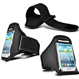 Sports Gym Fitness Armband For Samsung Galaxy S4 Mini i9190 i9195 (Black)