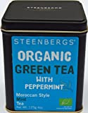 Organic Green Tea With Peppermint 125g Tin