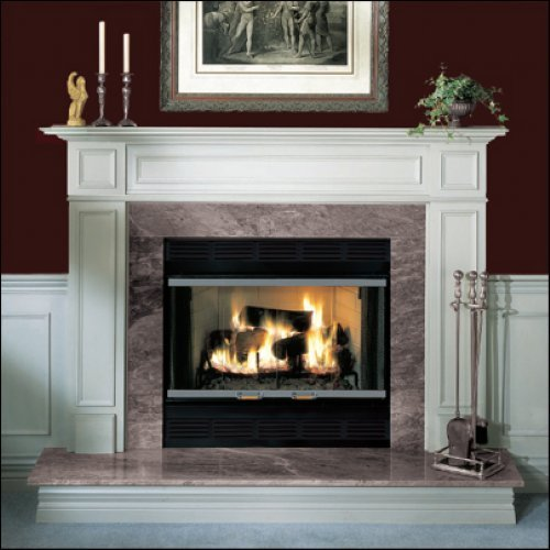 "Majestic BC42 42"" Heat Circulating Wood Burning Fireplace from the Royalton Collection, Black"