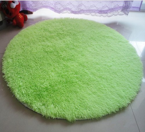 "Forever Lover Round 47.2"" Soft Smooth Flexible Carpet/Mat/Rug, Floor/Bedroom/Living Room/Bathroom/Kitchen/Area/Home Decoration, Children'S Paradise (Green)"