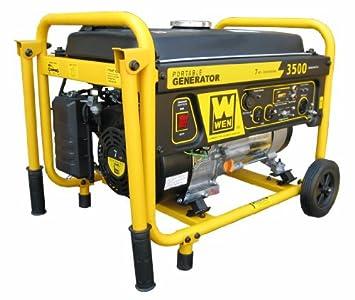 Wen 56352 3500 Watt 212cc Portable Generator With Wheel Kit Walmart