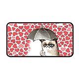 Red Cute Grumpy Cat I Have a Umbrella Custom Metal License Plate for Car