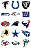 """NFL Team Logo Stickers * Set of 50 Football Stickers (All 32 Team Logos and more) 4.25"""" X 2.75"""" Size"""