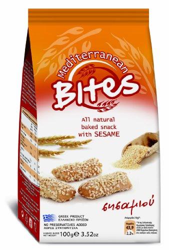 Mediterranean Bites Mini Breadsticks with Sesame 100 g (Pack of 12)