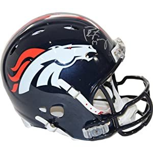 NFL Denver Broncos Peyton Manning Signed Authentic Revolution Helmet with Facemask by Steiner Sports