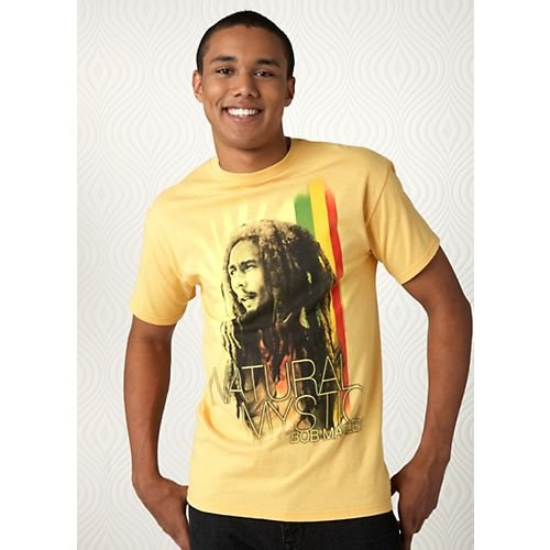 Zion Rootswear Bob Marley Natural Mystic T-Shirt YELLOW Sm