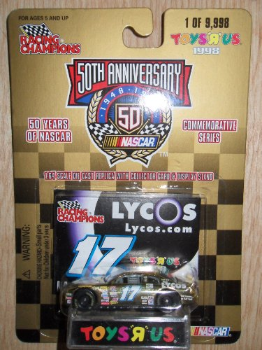 Racing Champions 1:64 #17 Lycos.com 50th Anniversary NASCAR Stock Car