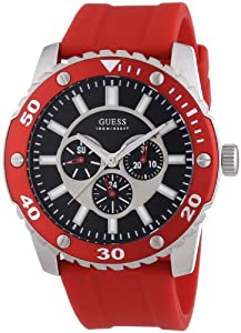 Amazon.com: Guess W10616G4 Mens WEB Red Watch: Watches