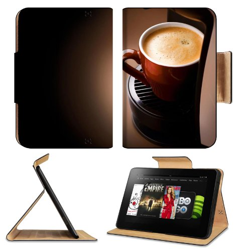 Coffee Cup Mug Drink Foam Water Food Amazon Kindle Fire Hd 8.9 [2012 Version] Flip Case Stand Magnetic Cover Open Ports Customized Made To Order Support Ready Premium Deluxe Pu Leather 9 13/16 Inch (250Mm) X 6 7/8 Inch (175Mm) X 11/16 Inch (17Mm) Liil Pro