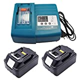 2 x 3.0Ah Battery for Makita BL1830 18V 3000mAh Li-ion and 1.5A Charger Replacement DC18RA DC18RC 14.4V ~ 18V Batterie