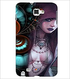PrintDhaba Bold Animated Girl D-3593 Back Case Cover for SAMSUNG GALAXY NOTE 1 (Multi-Coloured)