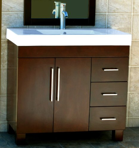 36 bathroom vanity cabinet ceramic top sink faucet cm1