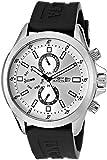 Invicta Men's 1836 Specialty Silver-Tone Dial Black Polyurethane Watch