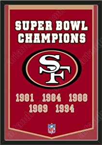 Dynasty Banner Of San Francisco 49ers-Framed Awesome & Beautiful-Must For A... by Art and More, Davenport, IA