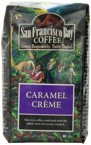 San Francisco Bay Coffee Whole Bean Caramel Creme Coffee, 12-Ounce Bag