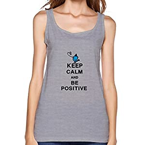 Women's Design Keep Calm Be Positive Geek Top