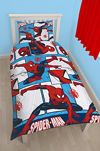 Character World - Biancheria per letto singolo, motivo: Spiderman Ultimate Parker