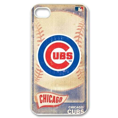 Chicago Cubs MLB Vintage Style Durable Plastic Back Case for iPhone 4 4S at Amazon.com