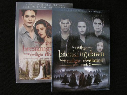Twilight: Breaking Dawn Part 1 and Part 2 (2-disc Editions) (Breaking Dawn Part 2 compare prices)
