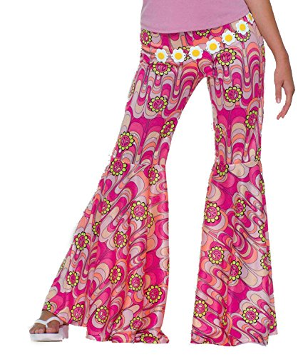 Forum Novelties Women's 60's Hippie Flower Power Bell Bottoms Adult Costume