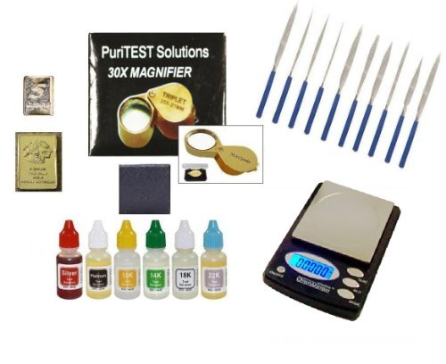 Diamond And Gold Silver Platinum Test Kit- Jewelry Testing Supplies With Box Of Acids, Electronic Scale And Much More front-468396
