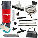 central vacuum unit allegro 3000 sq ft with 30 straight air attachment vac set
