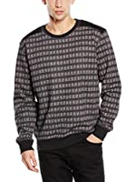TRU TRUSSARDI Sudadera All Over Check (Negro)