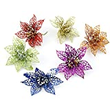 Fanshop® 6-Color Christmas Flower Xmas Tree Decorations Glitter Hollow Wedding Party Sale